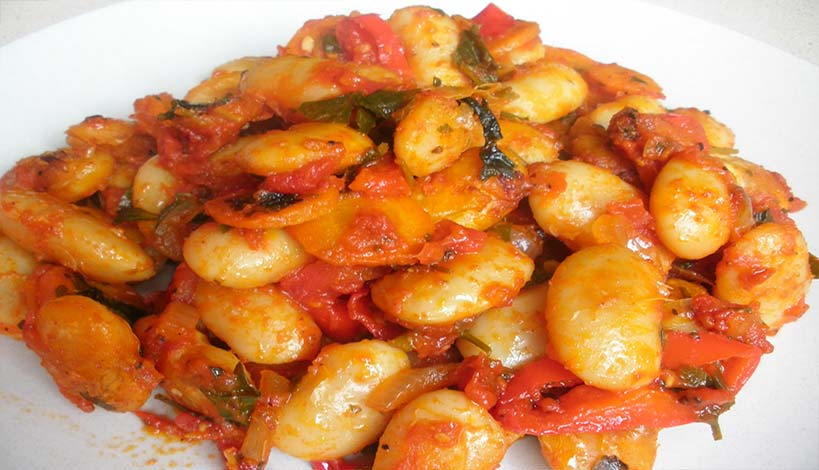 Aγιορείτικες Μοναστηριακές Συνταγές: Γίγαντες με λαχανικά στο φούρνοAγιορείτικες Μοναστηριακές Συνταγές: Γίγαντες με λαχανικά στο φούρνο