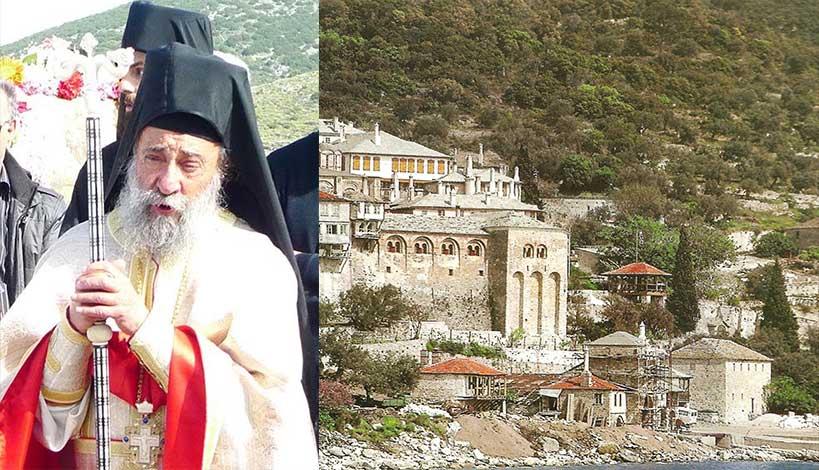 Καθηγούμενος της Ιεράς Μονής Δοχειαρίου Αρχιμανδρίτης Γρηγόριος