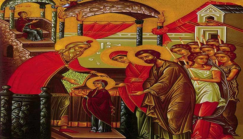 Εισόδια της Θεοτόκου: Ερμηνεία της Ιεράς εικόνας