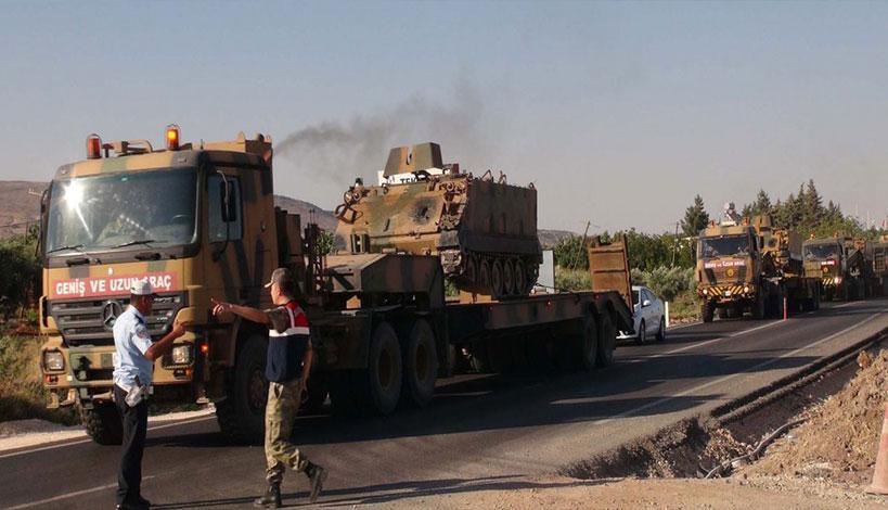 Η Τουρκία στέλνει στρατεύματα απέναντι από τους Κούρδους της Συρίας