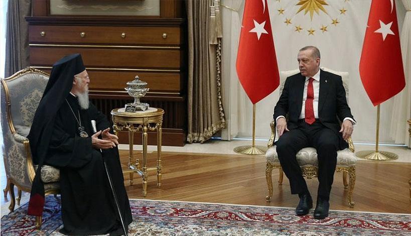 Ωμός εκβιασμός Ερντογάν σε Πατριάρχη Βαρθολομαίο;