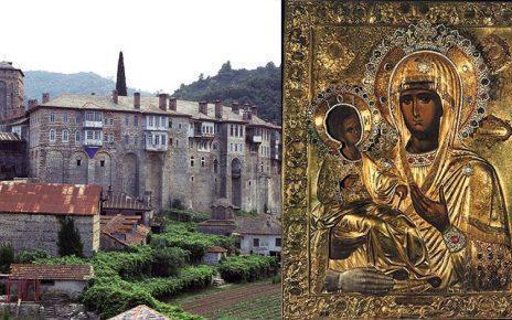 Άγιον Όρος 12 Ιουλίου: Σύναξη της Υπεραγίας Θεοτόκου της Τριχερούσας