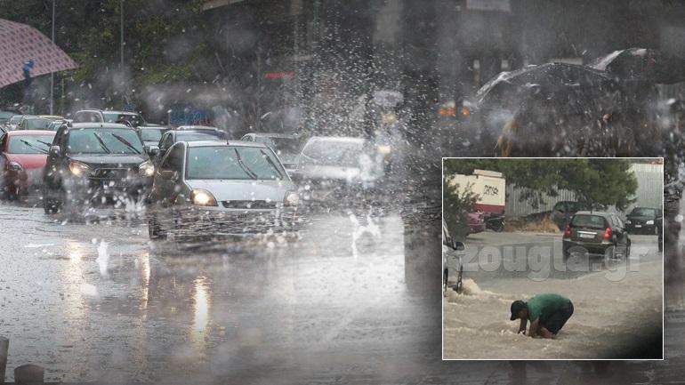 Ισχυρή καταιγίδα στην Αττική - Πως θα κινηθεί ο καιρός τις επόμενες ώρες - φωτό και βίντεο