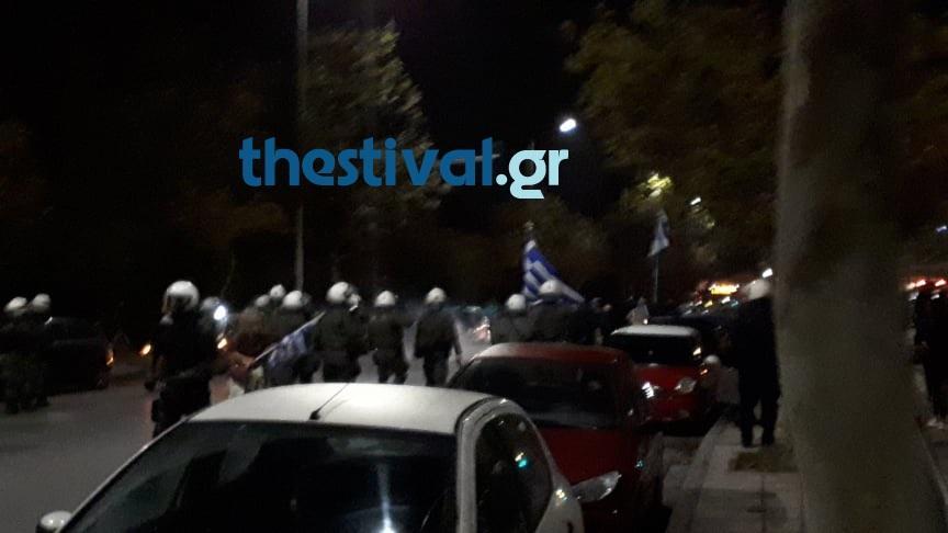 Ένταση και επεισόδια στην πορεία για τον Κωνσταντίνο Κατσίφα στη Θεσσαλονίκη