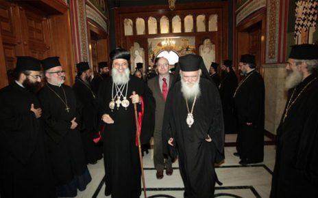 Ο Συρορθόδοξος Πατριάρχης Αντιοχείας και πάσης Ανατολής στον Αρχιεπίσκοπο