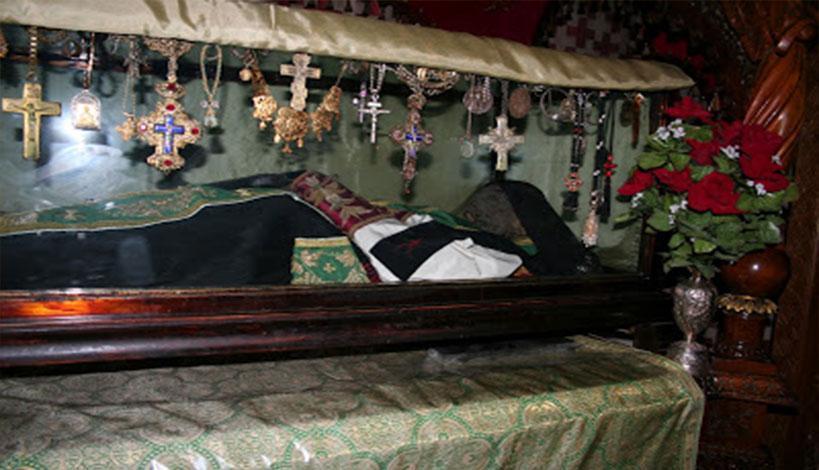 Ο Άγιος Σάββας ο Ηγιασμένος και η Θαυματουργός Φοινικιά του για τα στείρα ανδρόγυνα.
